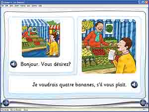 Clicker MFL for Primary French: simple dialogues (shopping)