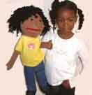 Black girl puppet