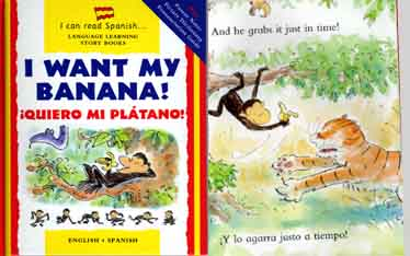 I want my banana - Spanish-English bilingual book